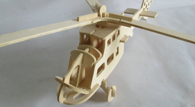 【協貿國際】DIY手工拼裝3D立體拼圖戰鬥機(6入)
