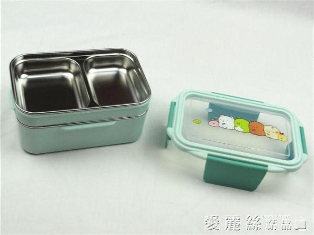 便當盒韓式雙層不銹鋼分層餐盤 學生飯盒微波爐加熱上班防燙帶蓋 清涼一夏钜惠
