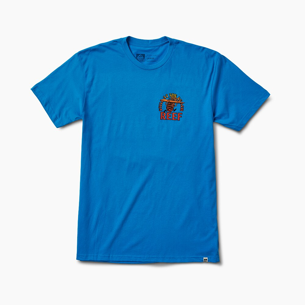 REEF 夏威夷衝浪鳳梨舒適印花男款上衣 . 天藍色 S19 RF0A3SSWTUR