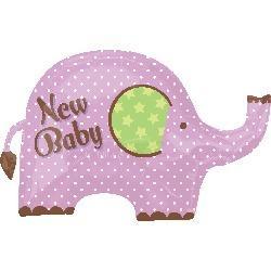 諾亞方舟粉紅小象氣球