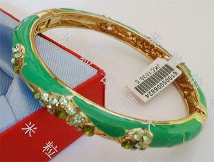 琺瑯手鐲鑲鑽飾品女孩生日禮物