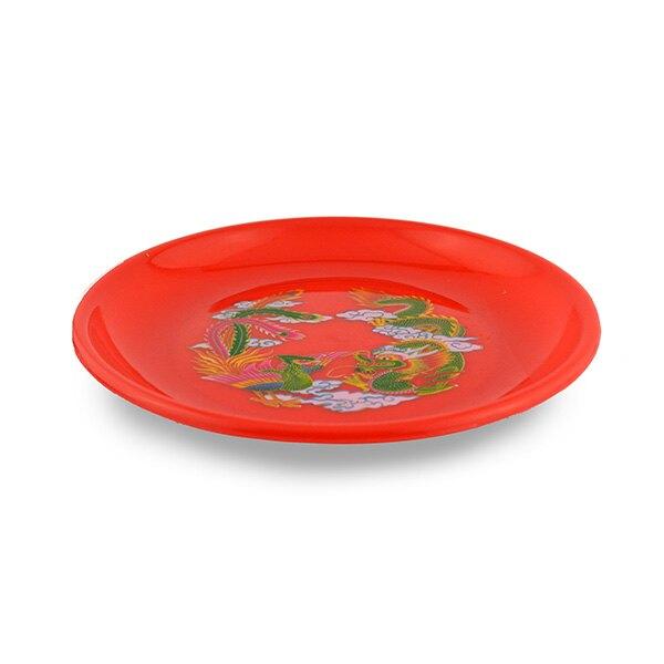 6寸 丸皿 圓盤 水果盤 敬果盤 中元 龍鳳盤