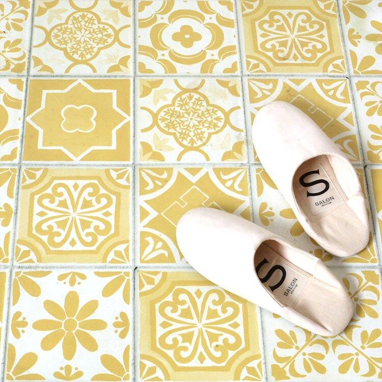 地板貼紙 地板專用獨創貼紙 藍色 黑色 黃色 磚紋 FL-TILE