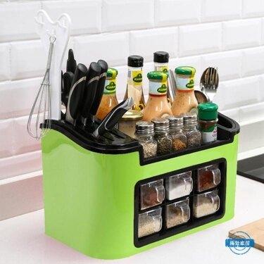 免運 調味罐廚房用品調料盒套裝家用鹽糖佐料收納盒組合裝塑料調味罐瓶六件套