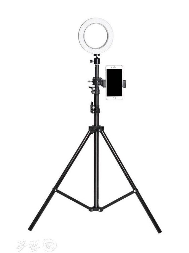 補光燈 網紅環形燈手機直播支架三腳架落地多功能補光戶外拍攝桌面自拍架 MKS夢藝家