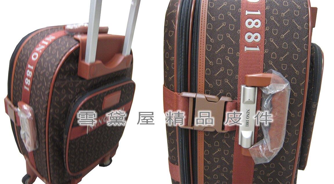 限時 滿3千賺10%點數↘ | ~雪黛屋~18NINO81 21吋行李箱軟箱可加大容量台灣製造品質保證360度靈活旋轉輪後雙飛機輪置物大容量U9310
