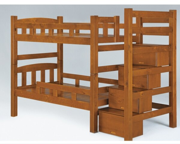 【YUDA】凱薩琳 實木 收納 單人 右梯 雙層 床架/床底/床檯 K9F 173-5