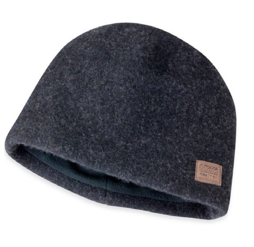 【【蘋果戶外】】Outdoor Research OR243666 0001 Whiskey Peak 羊毛保暖帽 保暖防風 登山露營 滑雪