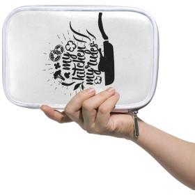 ZHIMI 化粧ポーチ メイクポーチ レディース コンパクト 柔らかい おしゃれ コスメケース 化粧品収納バッグ 料理の柄 機能的 防水 軽量 小物入れ 出張 海外旅行グッズ パスポートケースとしても適用