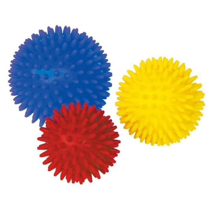 【晴晴百寶盒】台灣品牌 大觸覺球/環保/小觸覺球(直徑=10.8.7CM) WISDOM  觸感統感 教具益智遊戲 環保無毒玩具 檢驗合格 W912