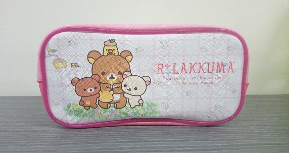 拉拉熊採蜂蜜長方形筆袋 化妝袋 收納包 踏青 好友 正版授權T00011751