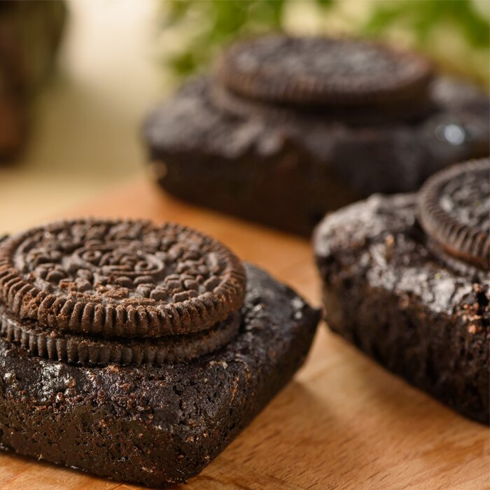 OREO布朗尼★暖の心意★濃濃的巧克力上舖滿脆脆的OREO餅乾☆☆(8入)