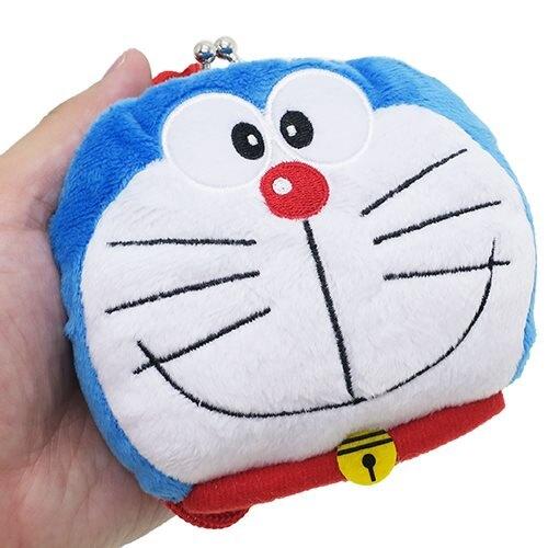 哆啦A夢大頭扣式可背小零錢包 小叮噹 日貨 正版授權J00012232