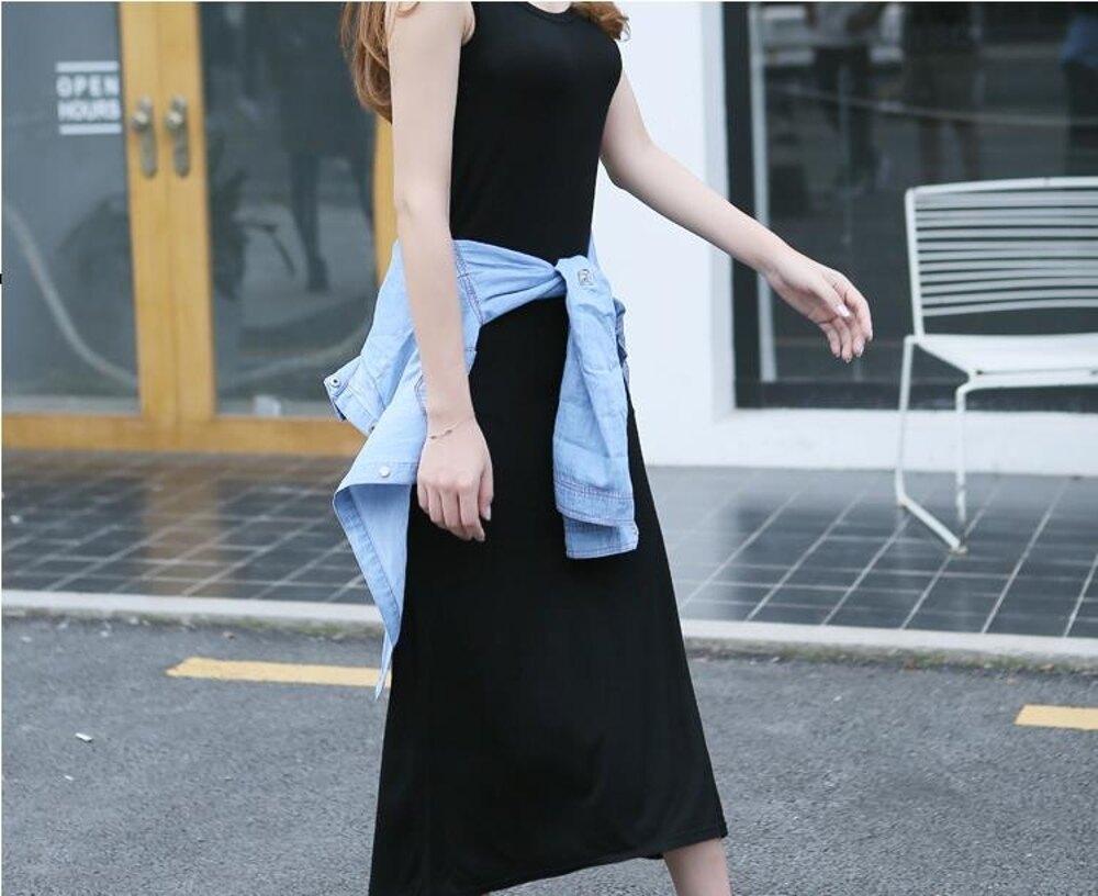 牛仔裙  女時髦套裙韓版修身連衣裙長裙兩件套牛仔襯衫外套  瑪麗蘇