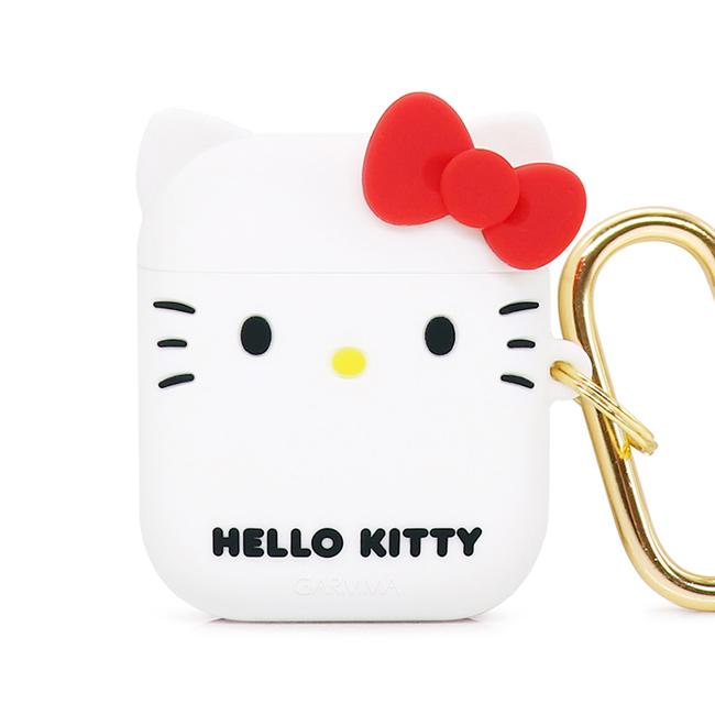 GARMMA Hello Kitty AirPods 1&2代 耳機盒 矽膠保護套 經典白