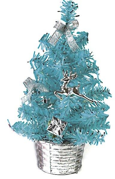 繽紛成品小樹(藍),聖誕樹/聖誕佈置/聖誕燈/會場佈置/材料包/成品樹/小樹,X射線【X805150】