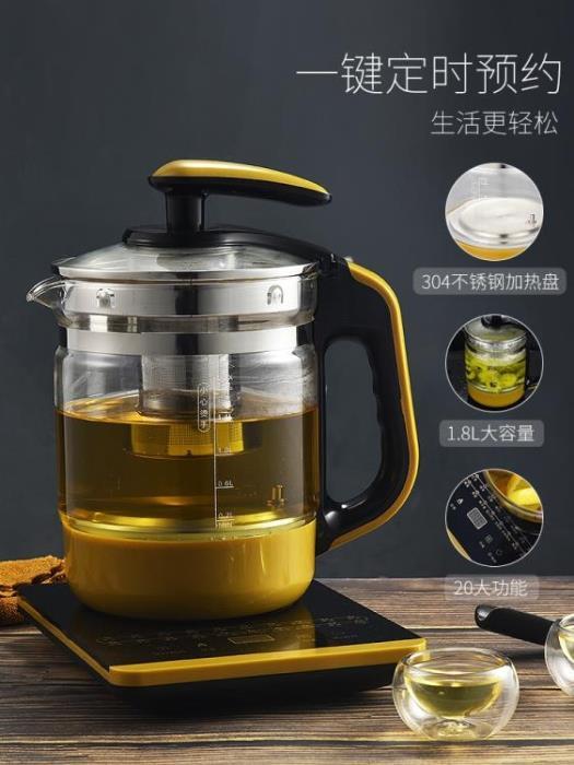 養生壺全自動加厚玻璃電煮茶壺迷你多功能花茶黑茶煮茶器熱燒水壺