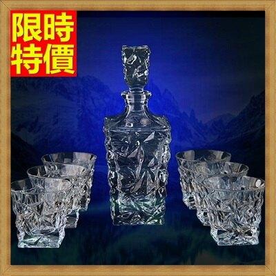 酒具套組套組含酒瓶+酒杯-玻璃瓶高檔水晶威士忌奢華7件套酒具用品68t33【獨家進口】【米蘭精品】