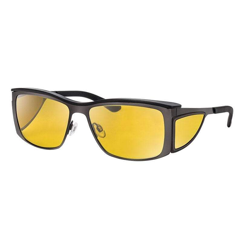 wellnessPROTECT Sport 德國製高防護包覆式濾藍光眼鏡 金屬框 65%黃色 金屬小框 巧克力棕 (56□17-135)