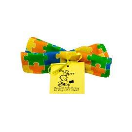 美國 Baby Paper 寶寶響紙安撫方巾 四色拼圖【紫貝殼】