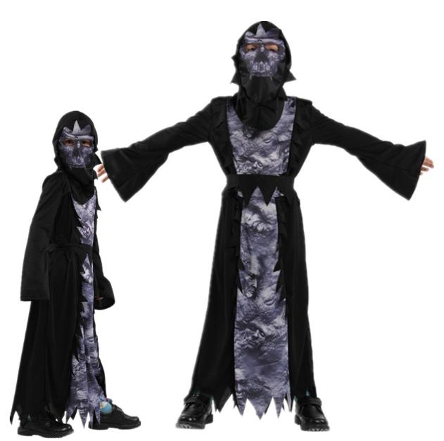 東區派對-萬聖節服裝/萬聖節長袍/死神袍/3d鬼袍/恐怖骷髏使者裝