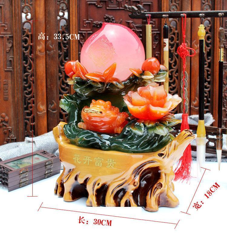 花開富貴生日禮品 送老人生日壽禮壽桃擺件 家居裝飾品擺設工藝品