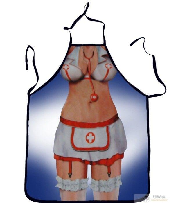 防水【性感創意圍裙】AP445 搞怪變裝派對 派對圍裙 廚房圍裙 搞笑搞怪圍裙 聖誕女郎 生日禮物 活動 聖誕禮物【狂麥市集】