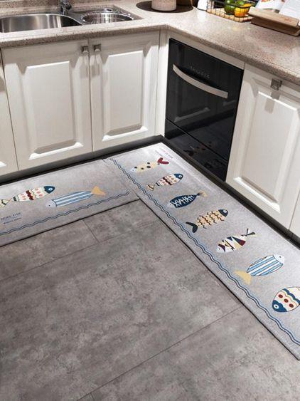 廚房地墊吸水防油地墊長條浴室防滑腳墊子進門口門墊家用臥室地毯