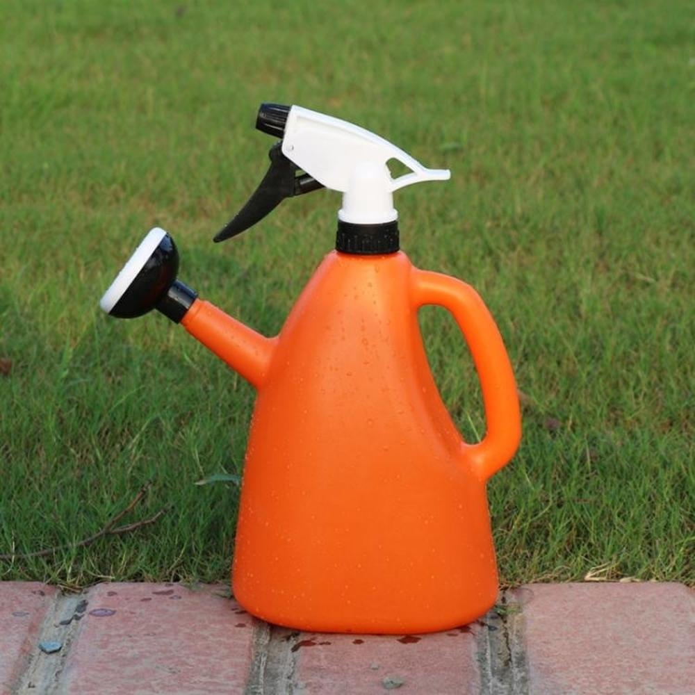 兩用塑料灑水壺家用澆水噴壺澆花器手壓式噴霧器澆花灑園藝噴水壺 韓菲兒 聖誕節禮物