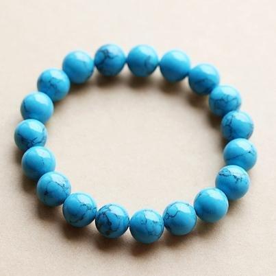 藍松石手鏈8-12MM 飾品男女 特價禮品禮物