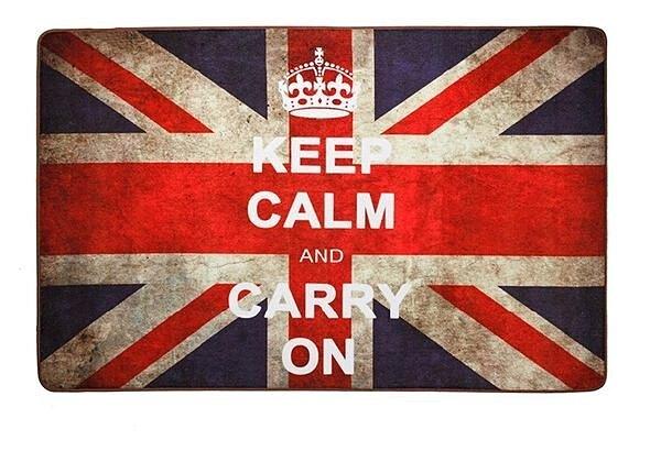 歐式復古風 懷舊英國國旗 50*80 CM 客廳地毯/ 地墊/ 浴室墊/ 玄關墊/