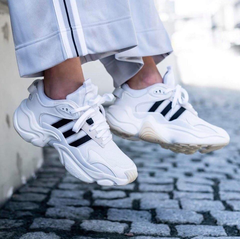 KUMO SHOES-現貨Adidas Originals Magmur Runner 白黑 奶油膠底 老爹鞋 女鞋 EE5139