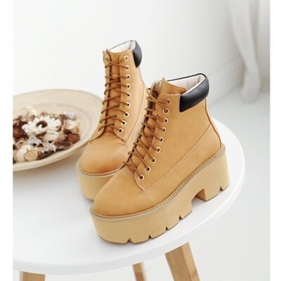 短靴厚底靴子-歐美學院風休閒百搭女馬丁靴5色73is42【獨家進口】【米蘭精品】