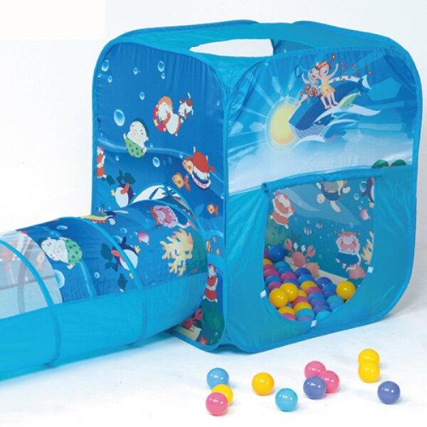 親親 三角帳篷+隧道+100顆彩球(彩盒裝)