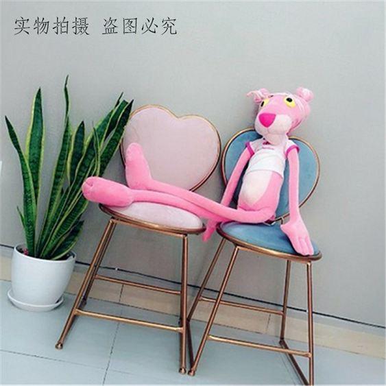 北歐心形餐椅甜品奶茶店美容靠背椅子網紅美甲凳少女ins風梳妝椅 果果輕時尚NMS