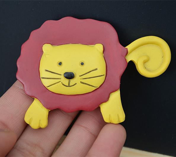 獅子貓冰箱貼2入