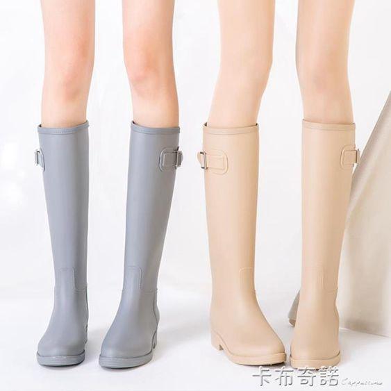 SLMA簡約時尚雨鞋女成人韓國高筒水靴防滑女士水鞋膠鞋雨靴防水鞋