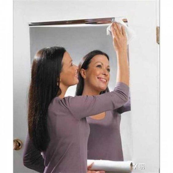 1舞蹈房鏡面貼紙60X100CM反射鏡貼膜瑜伽房裝飾貼鏡面牆貼紙軟鏡子