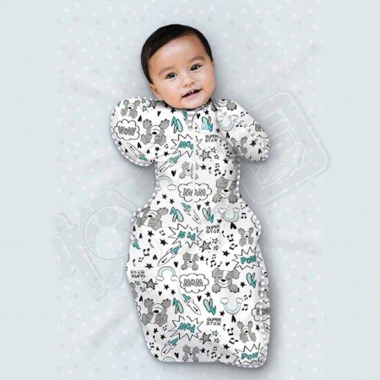 澳洲 Love To Dream SWADDLE UP 專利蝶型包巾(一般款) Stage1 穿著式設計款-星際狗(S/M)【悅兒園婦幼生活館】