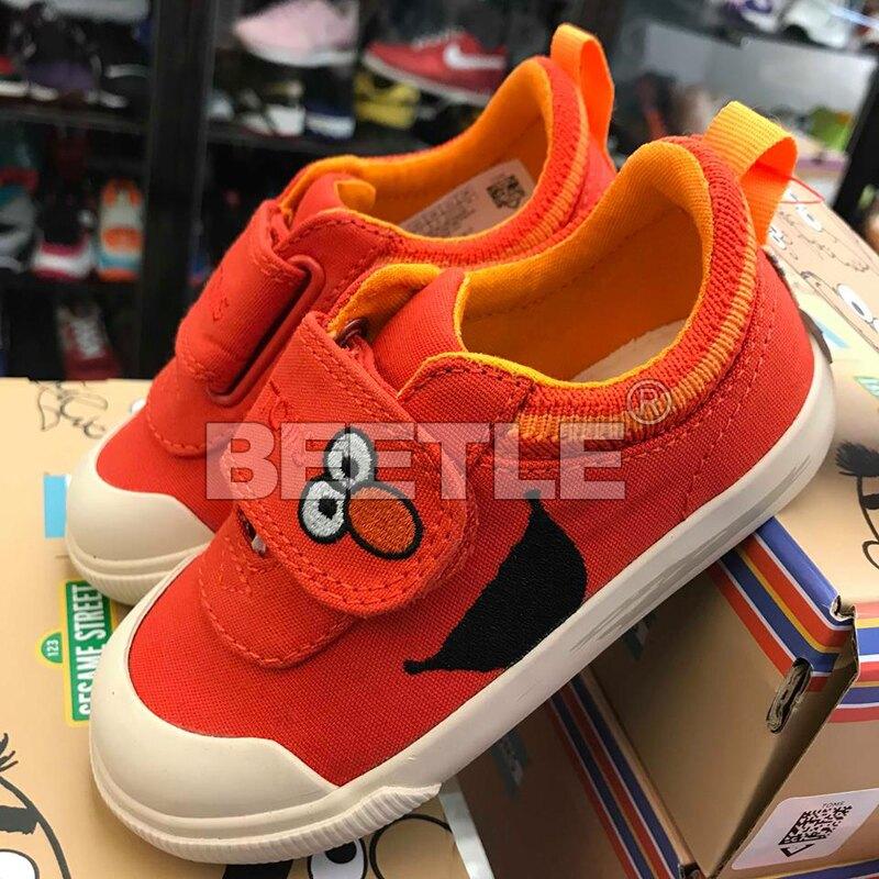 現貨 BEETLE TOMS X SESAME STREET ELMO FACE CANVAS 紅臉 帆布鞋 小朋友 TOMS-038