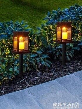 室外太陽能庭院燈蠟燭燈傘燈吊掛燈LED戶外防水花園別墅燈復古  WD 全館八五折