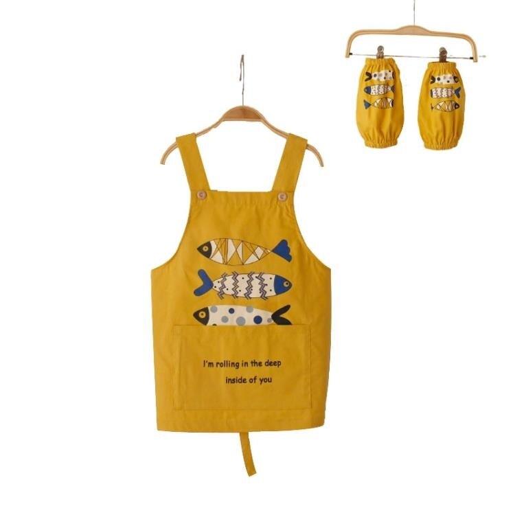 防水罩衣 兒童畫畫衣寶寶罩衣防水中大童吃飯衣幼稚園圍裙80130 領券下定更優惠