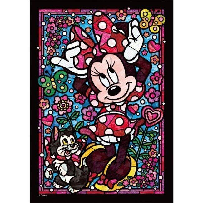 售完絕版【日本進口拼圖】迪士尼 DISNEY-透明材質-迪士尼 米妮 266 pcs(25.7x18.2) DSG-266-754