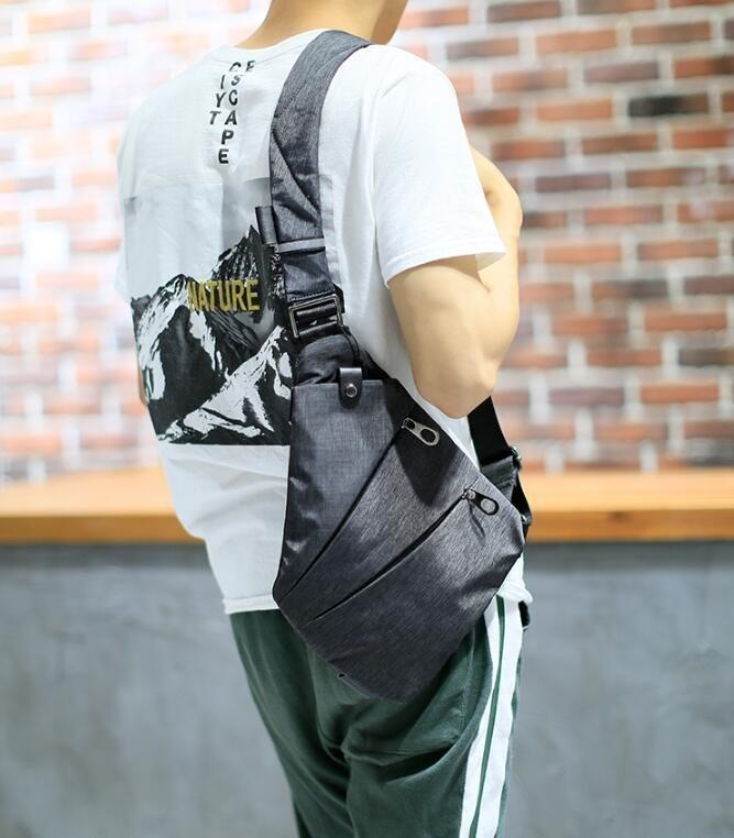 FINDSENSE Z1 韓國 時尚 潮 男 休閒戶外 運動版 尼綸 單肩包 斜背包 側背包