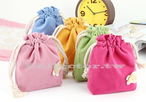 【超取399免運】韓版 馬卡龍色雙層束口袋 創意便捷柔軟包 糖果色化妝包