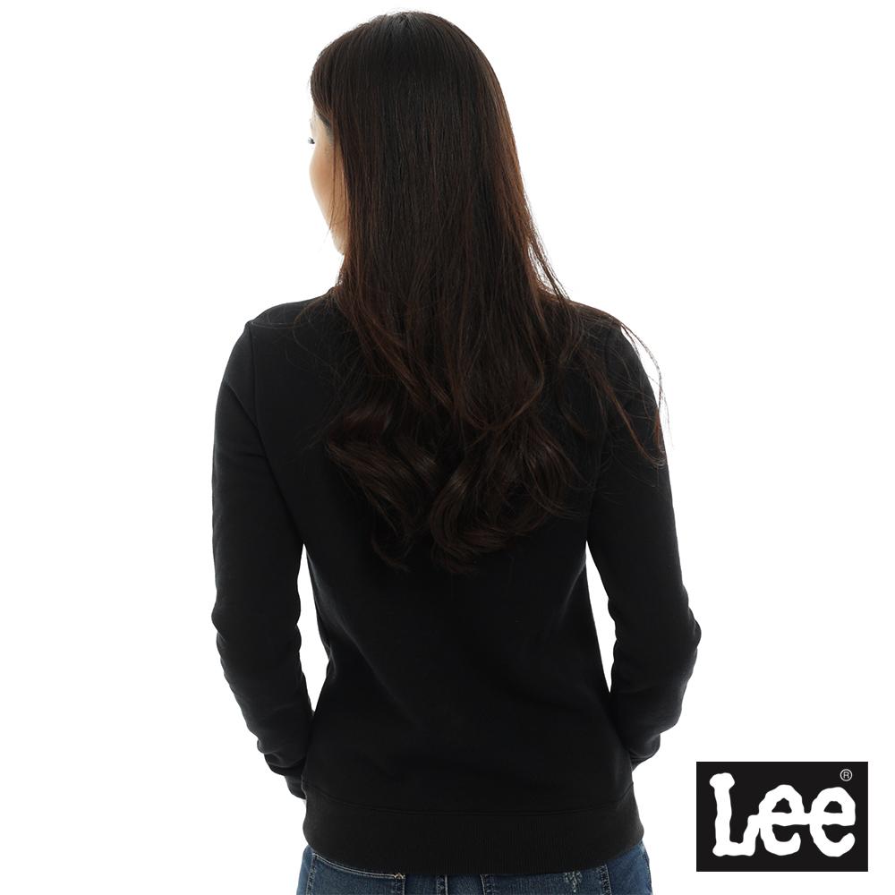 Lee LOGO圓領厚T恤 女 黑