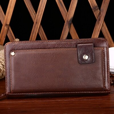手拿包真皮錢包-歐美復古商務精選男包包2色73lu42【獨家進口】【米蘭精品】