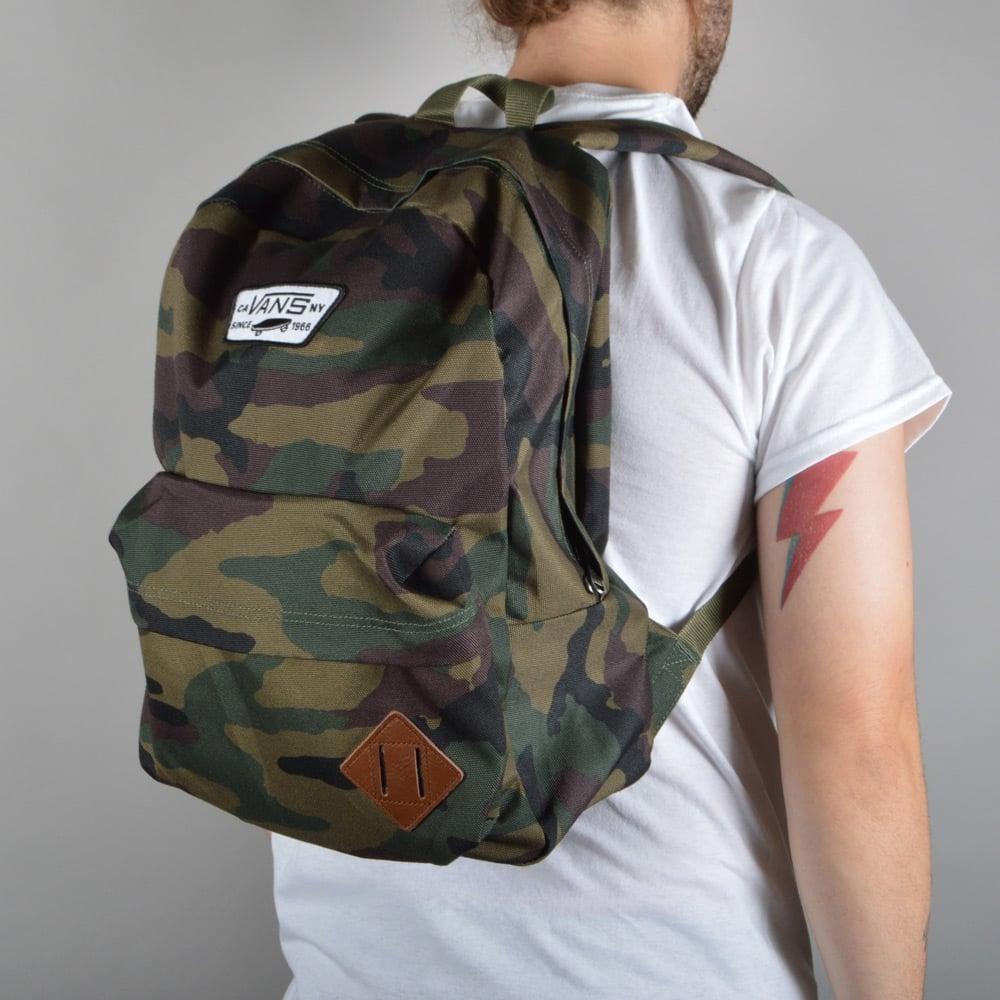 KUMO SHOES-現貨 Vans Classic Camo Old Skool II Backpack 休閒 書包 男女 後背包 雙間包