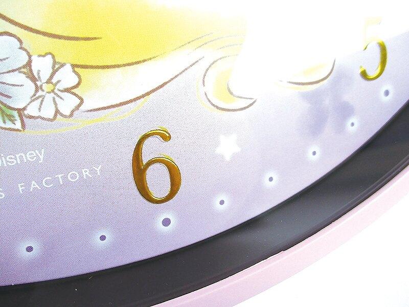 大賀屋 日貨 長髮公主 時鐘 掛鐘 生活用品 雜貨 日本百貨 正版 樂佩 公主 迪士尼 J00040143