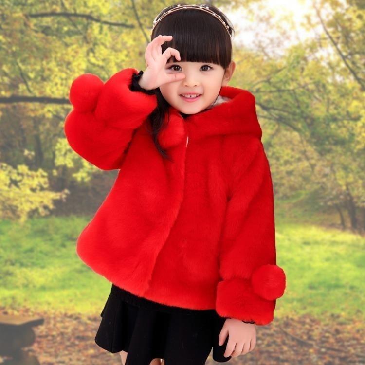 小香風童裝秋冬款加厚女童仿皮草毛毛衣兒童外套tz9180【男人與流行】